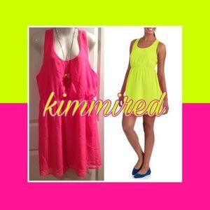 🆕Neon Pink Strappy Mini Dress ~ XXL